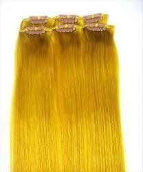 20 Streaks Clip in Hi or Lo Lights 100% Remy Human Hair Extensions Yellow by MyLuxury1st ONLY. $42.99. Any questions please contact MyLuxury1st, your reliable hair extensions supplier.  We are always happy to serve our customers.
