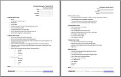 Useful Forms for Stage Managers (from Sign-in Sheets to Checklists): Performance Checklist Form