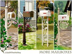 Say goodbye to the default mailbox! Here are 4 functional custom mailboxes for your choices. Mailbox is a special object in the Sims 3 game. Make sure you read my instructions and warning before. Sims Four, Sims 4 Mm, The Sims 4 Bebes, Sims 3 Games, Sims 3 Cc Finds, Sims Medieval, Muebles Sims 4 Cc, Custom Mailboxes, Pelo Sims