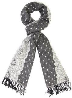 Grey Lace Blanket Scarf
