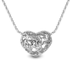 Heart Pendant in 925 Sterling silver on a silver chain
