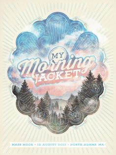 My Morning Jacket Massachusetts MOCA Poster by Aaron Powers