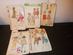 Inventory 27 Lot of 5 Vintage Patterns Childs size 2 Toddler