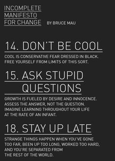 good advice for my boys -- except maybe the stay up late part...they're still too young for that!