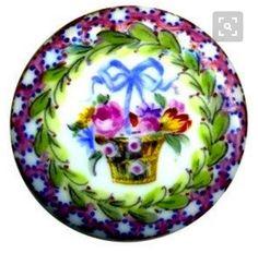 """Plat Porcelaine Perles /""""CIRCLE/"""" en Violet 8 mm 8 Pièce de vintageparts"""