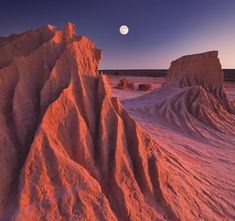 MOONRISE AT MUNGO Walls Of China, Mungo National Park, New South Wales, Australia The full moon rises while the sun sets simultaneously at the ancient s. moonrise at mungo Australia Tours, Australia Travel, Australia Photos, Destinations, Photo Awards, Ends Of The Earth, China, Historical Sites, Landscape Photography