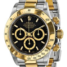 Certified Pre-owned Mens Rolex Daytona 18k Yellow Gold and Steel Chronograph Watch | Overstock.com Shopping - The Best Deals on Pre-Owned Rolex Men's Watches
