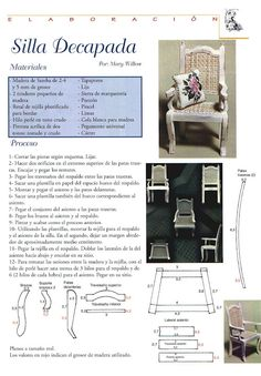 Free Pattern - Chair (enlarge for fashion doll size).