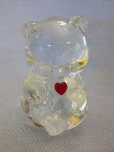 Sale***Fenton Birthday Bear with Red Heart, Fenton, Fenton Art Glass, Birthday Bear, Glass Bear, Bears, Collectibles, Hearts by SashaAzreal on Etsy