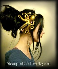 Stolen Pearls Octopus cthulhu head band by SteampunkCouture, $39.99