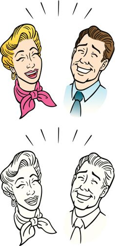 Comic Couple Laughing