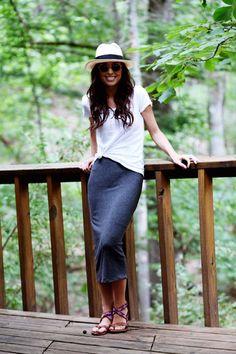 come indossare una gonna lunga