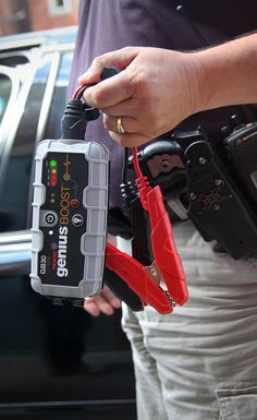 The GB30 is an ultra-portable, lightweight and compact lithium car jump starter for 12-volt batteries. With it, you can safely jump start a dead battery in seconds - up to 20 times on a single charge. It's mistake-proof, making it safe for anyone to use and features spark-proof technology, as well as reverse polarity protection. It integrates with a dual LED flashlight with 7 light modes and recharges your personal devices on the go. Perfect for cars, boats, motorcycles, lawn mowers and…
