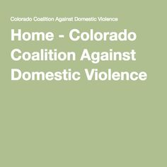 Home - Colorado Coalition Against Domestic Violence