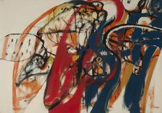 Homenaje a Fernand Léger (1963) Oleo sobre tela - Ernesto Deira (Argentina 1928-1986) Museo Nacional de Bellas Artes de Buenos Aires