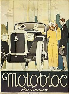 Vintage Style Poster Motobloc Rene Vincent French Automobiles Art Deco Car everyone had a driver Poster Art, Retro Poster, Kunst Poster, Art Deco Posters, Car Posters, Art Deco Illustration, Illustrations Vintage, Illustrations Posters, Harlem Renaissance