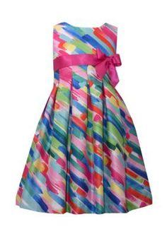 Bonnie Jean Fuchsia Watercolor Print Dress Girls 7-16