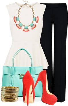 """Bright Accents"" by jafashions on Polyvore"