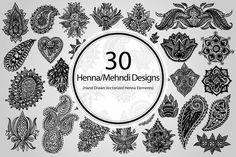 Henna Mehndi Vector : 20 henna design vector elements designs and graphics