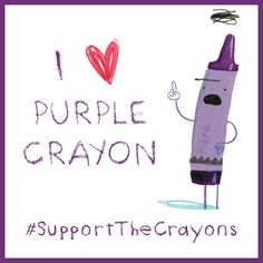 I support Purple Crayon! #penguinkids #SupportTheCrayons
