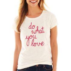 Camisa con texto de JcPenney