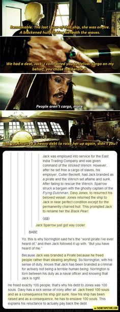 Wow I never quite caught this watching the movies, much more respect for Captain Jack!<-- There's actually a book series (for kids) about it! I loved them! PotC was my first big fandom after Harry Potter, just because I thought Captain Jack was such an amazing character! There's a ton of lit published by Disney about all the characters' back stories.