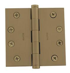 "Baldwin 1040.I 4"" x 4"" Solid Brass Square Corner Plain Bearing Mortise Hinge - S"