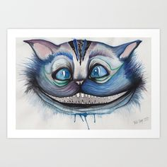 Cheshire Cat Grin - Alice in Wonderland Art Print