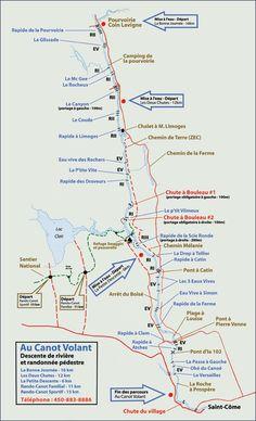 carte rivière l'Assomption