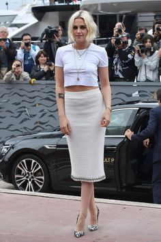 Kristen Stewart at the Cannes Film Festival. Looking amazing in her rock but also chic outfit