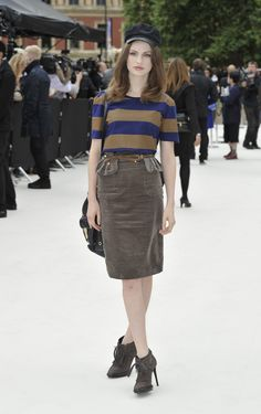 Tali Lennox wearing Burberry at the Burberry Prorsum Womenswear Spring/Summer 2013 Show
