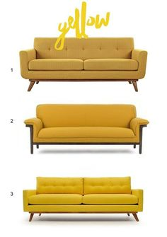A Shopping Guide to Bright Beautiful Seating: Colors of the Sofa