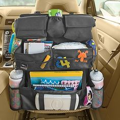 Need this!  The back seat of my Jeep looks like a toy store exploded in it.