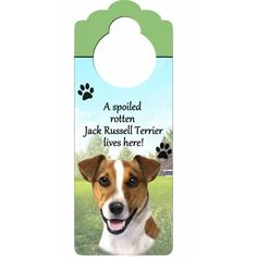 Jack Russell Pet Door Hanger (Set of 2)