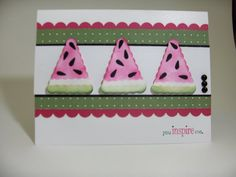Stampin' Up!  Pennant Punch  Laura Haffke  Watermelon