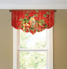 Welcome to Priority Windows Outlet. Up for sale is a lined scalloped valance in a a red stripe fabric by Richlooms Platinum collection. This