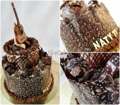 Chocolate cake - Guitar  - http://cakesdecor.com/cakes/278011-chocolate-cake-guitar