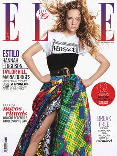 Hannah Ferguson, Taylor Hill, Versace, Elle Magazine, Magazine Covers, Got The Look, Fashion Days, Tie Dye Skirt, High Waisted Skirt