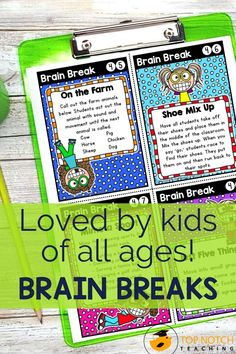 We know the importance of brain breaks to help students focus and learn. Don't waste time looking for fun and effective brain break activities. Just use these printable Brain Break Cards and fill your teacher bag of tricks with brain breaks your students will love. These 60 brain break activities were designed to help students take a short mental break, regain focus, and re-energize to get them back on track for learning. The perfect addition to any classroom management system! Comprehension Strategies, Teaching Strategies, Teaching Tips, Teaching Reading, Teaching Math, Learning, Teaching 5th Grade, 5th Grade Classroom, Primary Classroom
