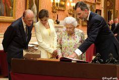 Queen Elizabeth II and Prince Philip with King Felipe VI and Queen Letizia of Spain