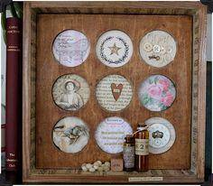 Love this shadowbox made with the new 7 Gypsies 8x8 boxes! Want to do this!