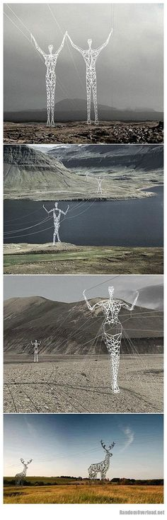 Iceland electric poles