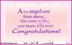 New born baby wishes and congratulations messages pinterest a warm message to wish the new parents on their new found joy free online an angel has come ecards on congratulations m4hsunfo