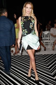 Sabine Getty - Giambattista Valli Fall 2015 Couture Front Row - July 6, 2016 #FROW