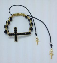 Shambala crucifixo www.elo7.com.br/cocarbrasil