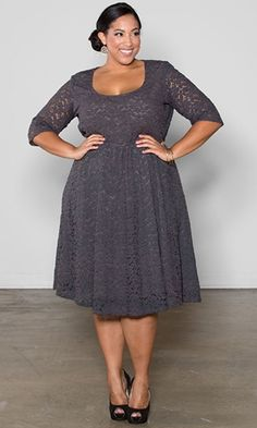 Gray lace dress swak designs