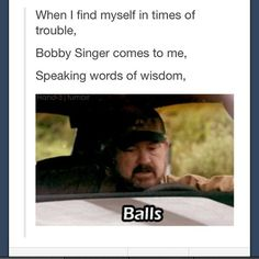Such a touching song, by Bobby Singer