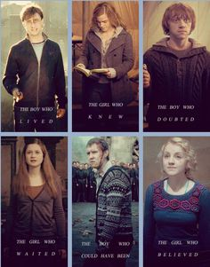 Harry, Ron, Hermione, Ginny, Neville, Louna                                                                                                                                                                                 Plus