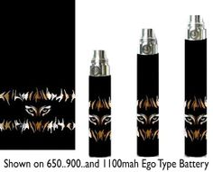 TIGER EYES Cig Battery Skins eGo Type/Others Ecig Sticker Wraps Cover Glossy