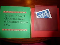 Now this is an adorable teacher gift to give from ALL of the students in the class.